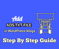 add ads txt file in wordpress s