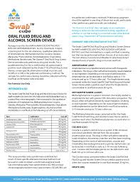 Swab Cube Oral Swab Drug Testing Kit Product Insert