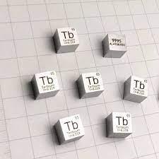 TB เทอร์เบียม Cube แก้วจำนวนมากซีลบริสุทธิ์ 99.95% ตารางธาตุหายาก Earth  องค์ประกอบโลหะสำหรับ DIY การศึกษาวิจัยโรงเรียนการศึกษา|Magnetic Materials