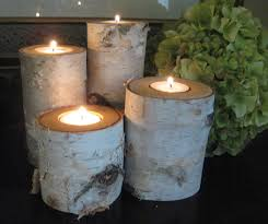 ... Attractive Accessories For Table Centerpiece Decoration With Birch Bark  Candle Holders : Delightful Image Of Dining ...