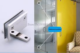 1pcs bevel two way 90 degree stainless steel glass door hinges bathroom shower door chrome finished