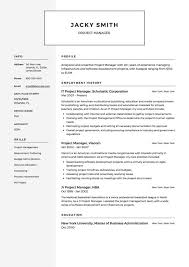 Resume Example Project Manager Resume Sample Project Manager Stunning Project Manager Resume Examples