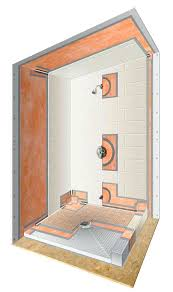 shower installation kits floor curb kit