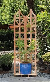 Wood Trellis: Deco Freestanding Corner Trellis   Gardeners.com