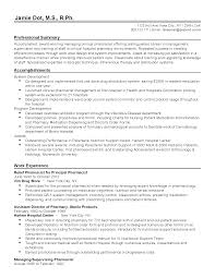 Pharmacist Resume How To Write A For Pharmacy School Professional