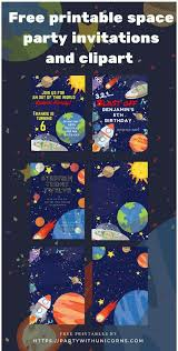 Space Party Invitation Outer Space Birthday Party Free Invitations Party With