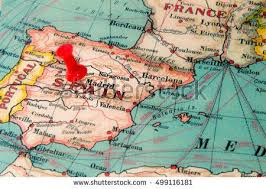 Map of battle of lepanto 1571 between ottoman empire and holy league (spain, venice, papal state), largest battle fought by galleys in history. Madrid Spain Pinned On Vintage Map Of Europe Real Estate Website Europe Map Vintage Map