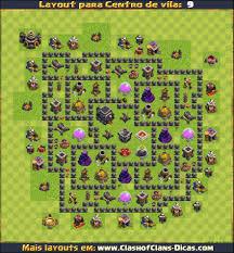 Layouts Para Cv9 Em Clash Of Clans Atualizados Clash Of Clans