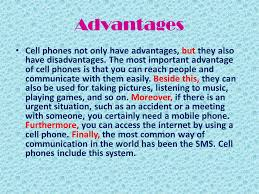 Essay advantage of phone