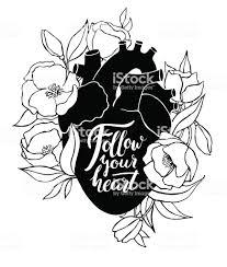 人間の心臓に花のイラスト イラストレーションのベクターアート素材や