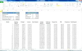 Mortgage Extra Payment Loan Calculator Spreadsheet With Extra Payments Mortgage Calculator