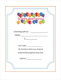 Gift Card Word Template 20 Birthday Gift Certificate Templates Free Sample