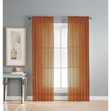 window elements sheer diamond sheer voile extra wide 84 in l rod pocket curtain panel