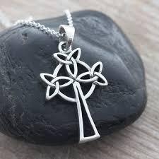 celtic cross irish celtic knot sterling silver cross necklace men necklace leather necklace sterling chain sterling celtic jewelry
