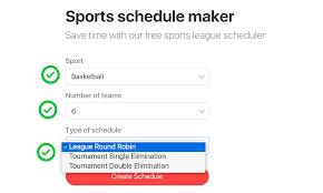 Online League Schedule Maker Magdalene Project Org
