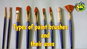 types of paint brushes and their uses complete guide