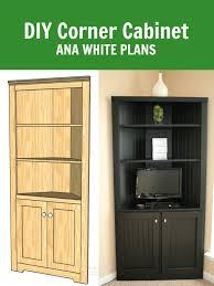 Building A Corner Cabinet Ana White Corner Cabinet Storage Shelf Diy Projects