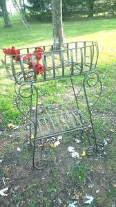 wrought iron plant stands outdoor outdoor metal