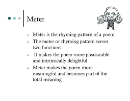 In Poetry Meter Is The Pattern Of