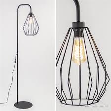 Draad Vloerlamp Zwart Met Korf Straluma
