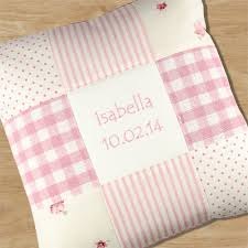 personalised baby s patchwork cushion