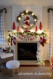Living Room Decorating For Christmas 17 Best Ideas About Christmas Fireplace Decorations On Pinterest