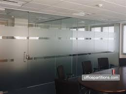 single glazed frameless glass office with glass door pull handles lock frosted vinyls