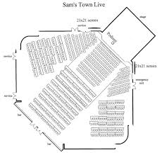 Sam S Town Live Las Vegas Seating Chart Schedule Guest Speakers 20 Books Vegas