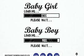 Baby Girl Loading Svg Baby Boy Loading Svg Expecting Baby Baby