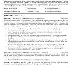 Sample Cover Letter For Client Relationship Manager Customer Relationship Officer Sample Resume Professional