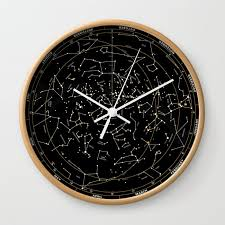 Star Chart Of The Northern Hemisphere Wall Clock By Chicokids