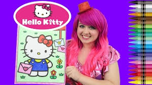 I had so much fun coloring in this giant coloring book and watching my picture come to life! Coloring Hello Kitty Giant Coloring Book Crayola Crayons Coloring With Kimmi The Clown Youtube