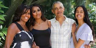 Sasha Obama shows off stunning new look in rare <b>family</b> photo