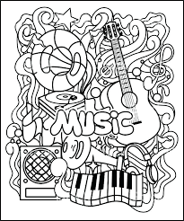 Coloring Pages To Print Kids Under 7 Musical Instruments Coloring