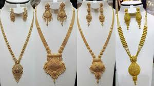 Long Rani Haar Designs In Gold Latest Long Gold Necklace With Earring Designs Long Ranihaar Sets Designs