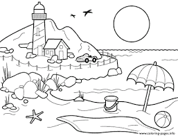 Summer Landscape Coloring Pages With Coloring Pages Make Your World