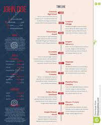 Timeline infographic design for resume light. Royalty-Free Vector