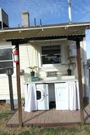 outdoor laundry shed outdoor laundry room build cabinet around washer dryer curtain to hide them use