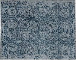 pottery barn rugs 8x10 printed wool rug blue new with tags pad seagrass sisal