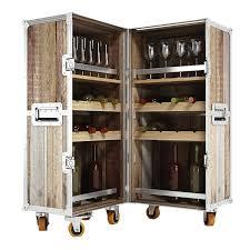 bar trunk furniture. industrial loft reclaimed teak trunk bar cabinet furniture a