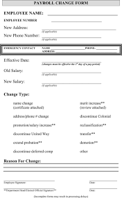 Download Payroll Change Form For Free Formtemplate