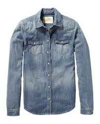 <b>Rohopo</b> Man Accidental Denim <b>Long Sleeve</b> Cotton Jeans Shirt ...
