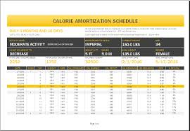 download amortization schedule calorie amortization schedule with nutrition tracker word excel