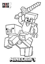 Disegni Da Colorare Lego Minecraft Steve E Alex Coloring Pages