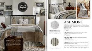 ashmont white soft blue stripes charcoal and creme ticking quilt bedding and accessories farmhouse collections by april and olive from vhc brands