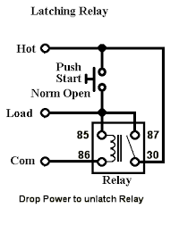 12v latching relay wiring diagram industrial latching relay wiring self latching relay circuit diagram at 12 Volt Latching Relay Diagram