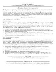 General Manager Resume Samples Resume Letter Directory
