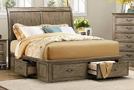 rustic queen bed.  Rustic Rustic Driftwood Finish Bedroom  To Queen Bed T