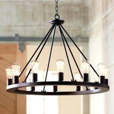 modern black chandelier wide round black led chandelier