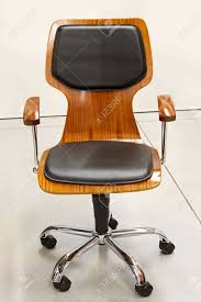 modern wood office chair. Modern Wooden Office Chair With Leather Cushions Stock Photo - 23204498 Wood M